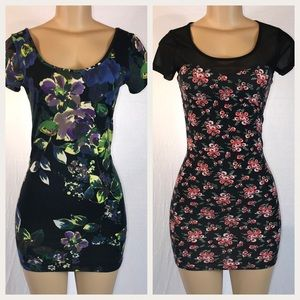 FOREVER 21 Two Bodycon Floral Dresses
